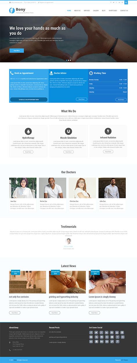 bony chiropractor WordPress theme