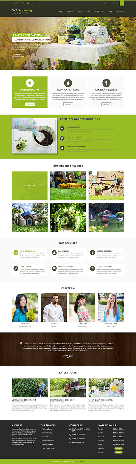 gardening and landscaping WordPress theme