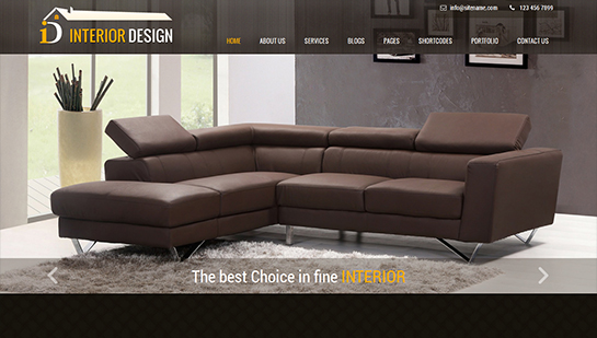 free interior design WordPress themes