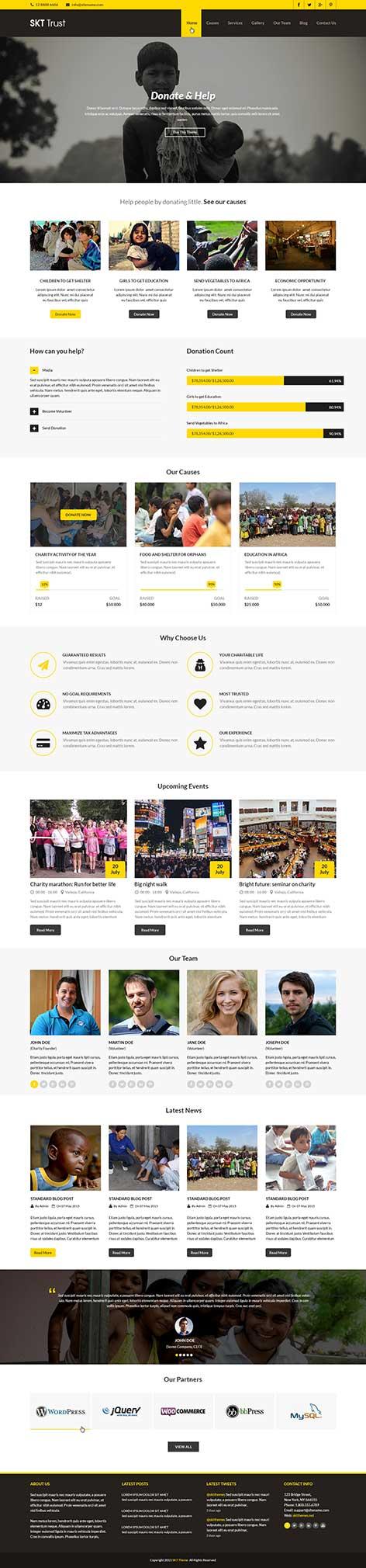 non-profit WordPress theme