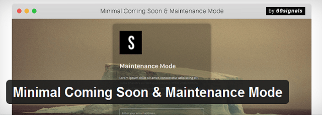 Minimal Coming Soon and Maintenance Mode