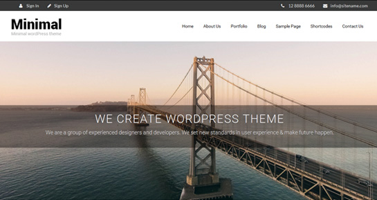 clean minimal WordPress theme
