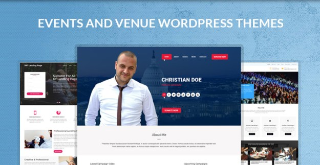 events venue WordPress themes