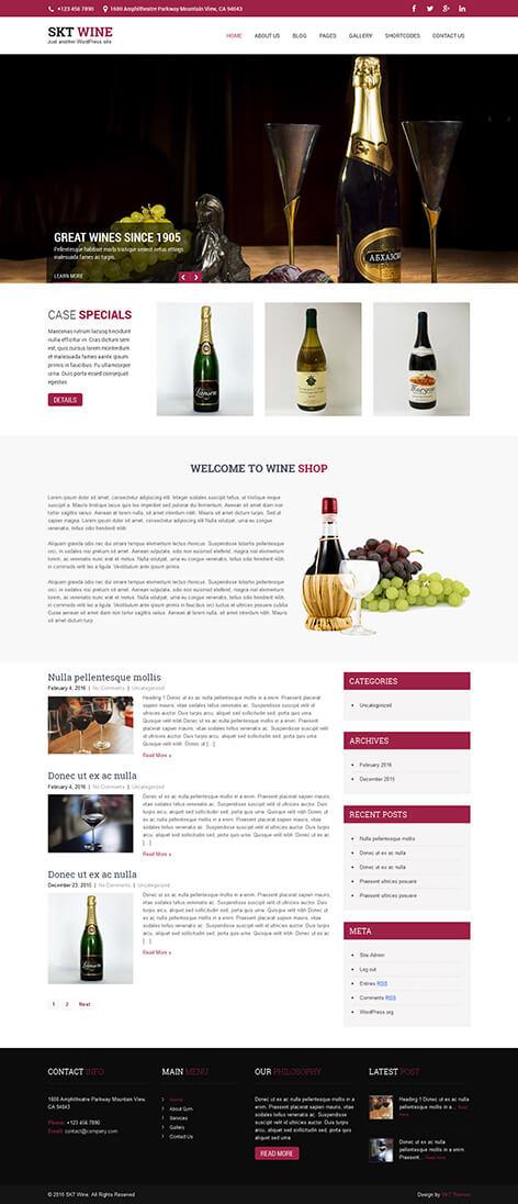 free wine brewery WordPress theme