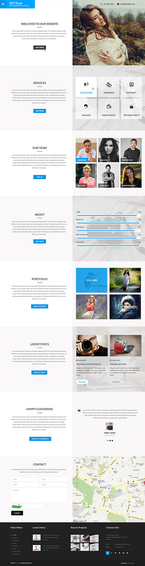 marketing WordPress theme