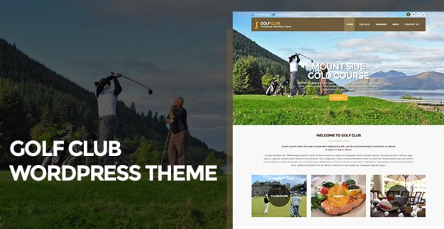 golf club WordPress theme