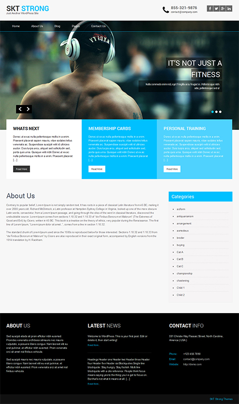 free corporate WordPress theme