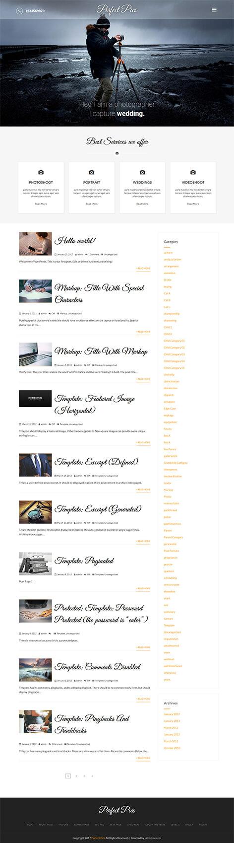 free photo gallery WordPress theme