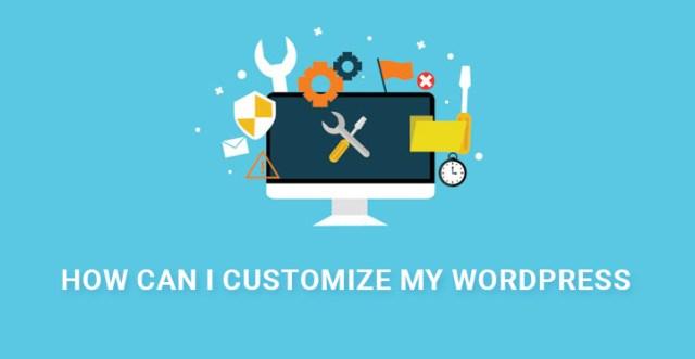 customize WordPress site