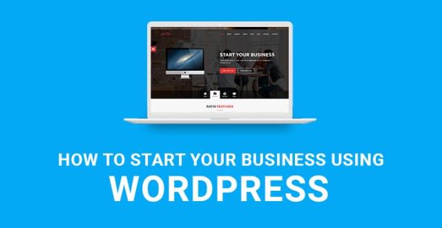 start your business using WordPress