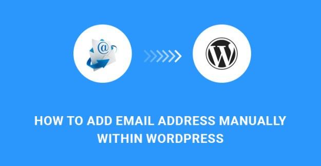 add email address WordPress