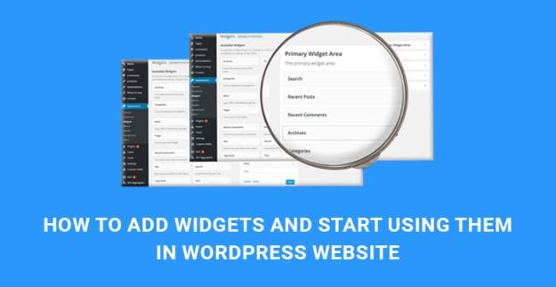 add widgets use WordPress