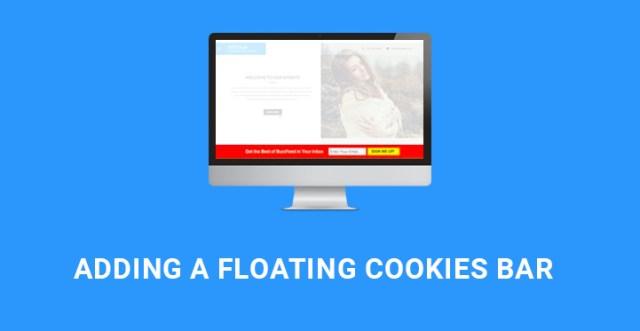floating cookies bar WordPress