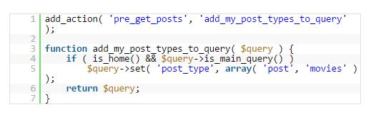 pre post type