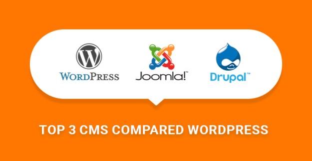CMS Comparison WordPress Joomla Drupal