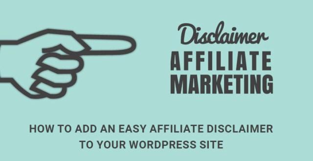 easy affiliate disclaimer