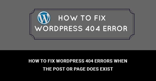 Fix WordPress 404 Errors