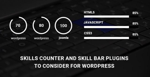WordPress skill bar plugins