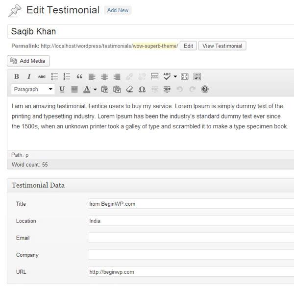 creating testimonials