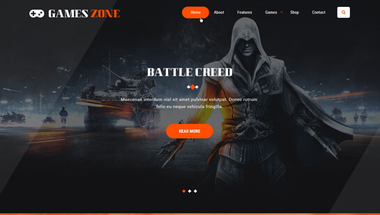 game developer WordPress theme