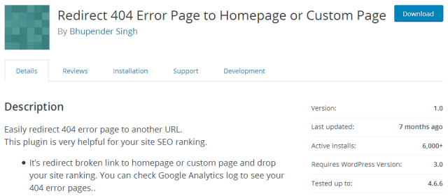 Redirect 404 Error Page to Homepage or Custom Page