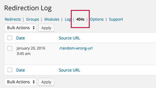 404 redirect WordPress