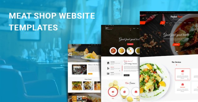 meat shop WordPress themes