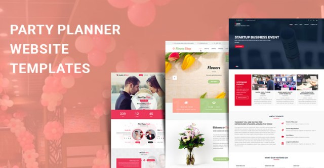 party planner WordPress themes