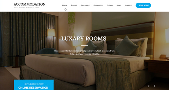 accomodation WordPress theme