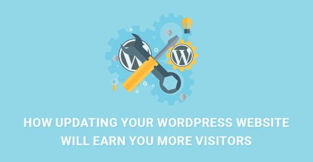 updating WordPress website