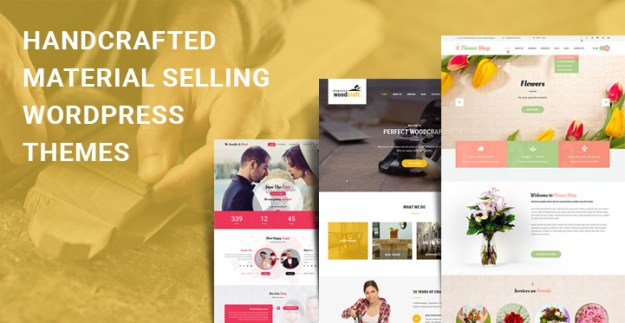 handcrafted material selling WordPress themes
