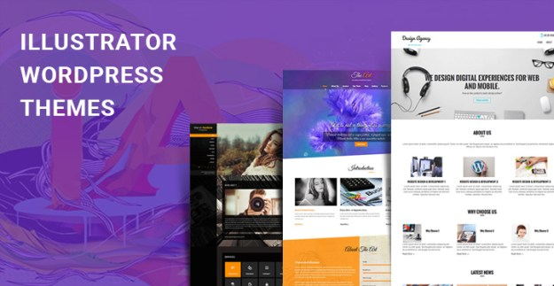 illustrator WordPress themes