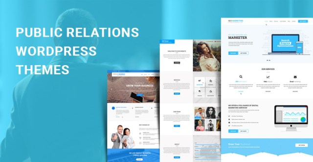 public relations WordPress themes