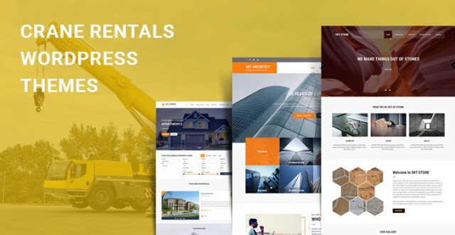 Crane Rentals WordPress Themes