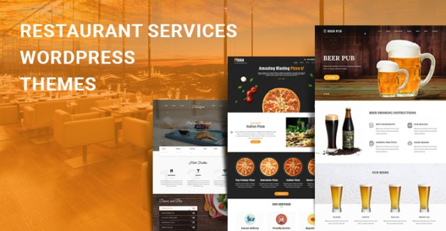 Restaurant Service WordPress Themes