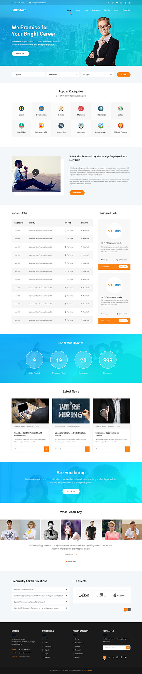 job portal WordPress theme