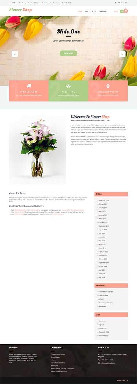 free shop WordPress theme