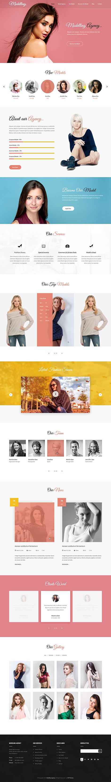 model WordPress theme