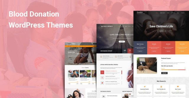 blood donation wordpress themes