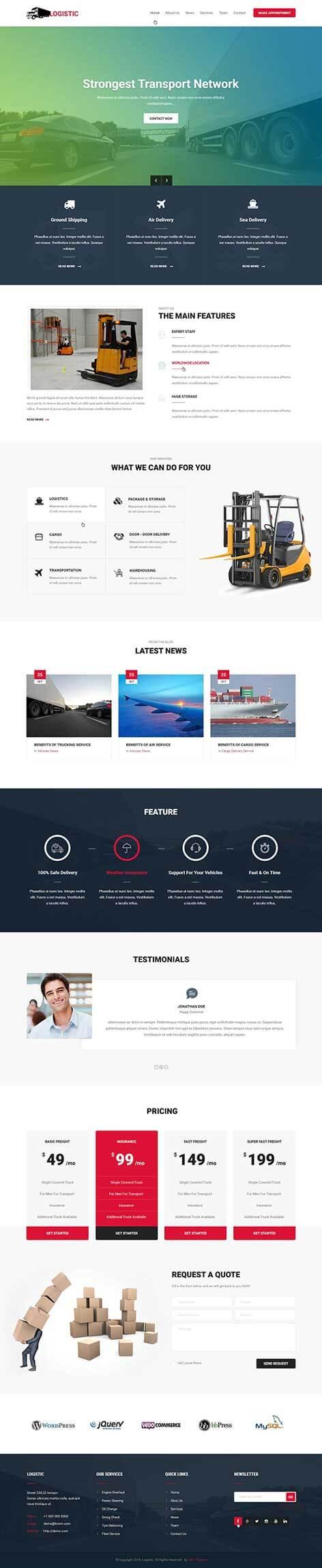 cargo WordPress theme