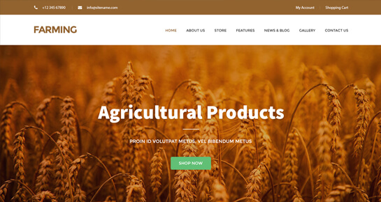 Farming WordPress theme