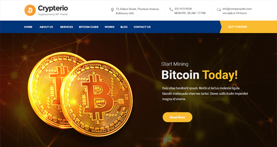 Crypto WordPress theme