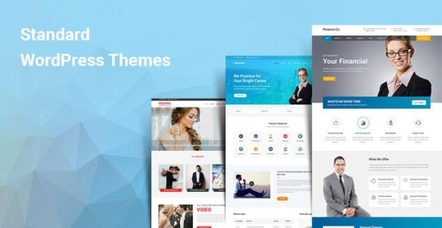 Standard WordPress themes