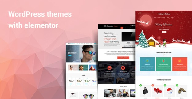 WordPress themes with elementor