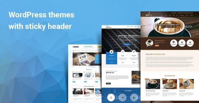 WordPress themes with sticky header