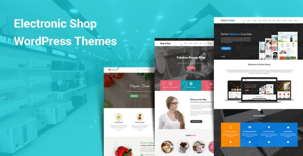 Electronic shop WordPress themes