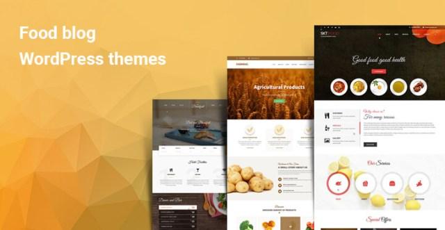 Food blog WordPress themes