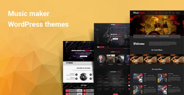 Music maker WordPress themes