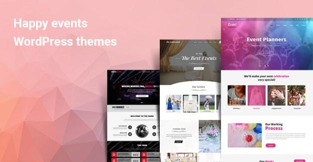 Happy events WordPress themes