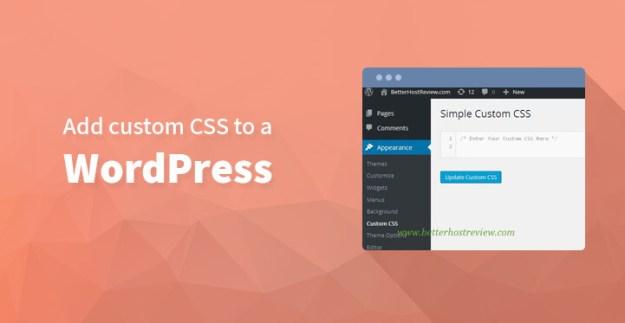 How to add custom CSS to a WordPress powered website